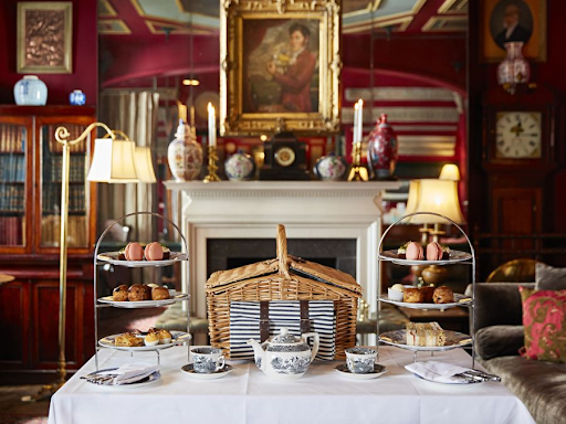 Afternoon Tea Before The Fireplace At The Zetter Townhouse Marylebone
