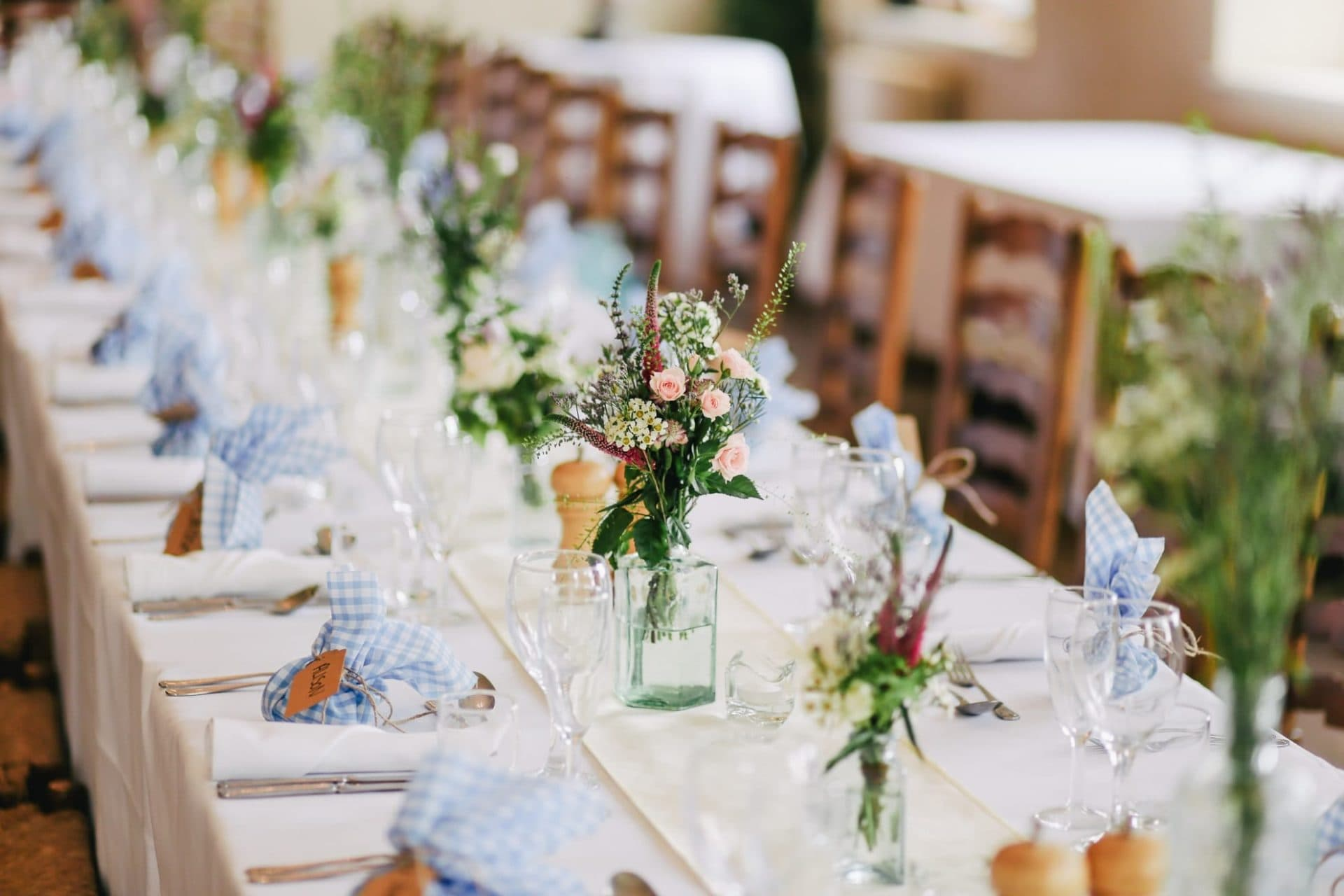 The Zetter Townhouse Marylebone Table Setting For A Wedding
